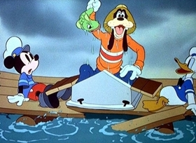 Screenshots from the 1938 Disney cartoon The Whalers