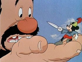 Screenshots from the 1938 Disney cartoon Brave Little Tailor