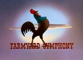 Screenshots from the 1938 Disney cartoon Farmyard Symphony