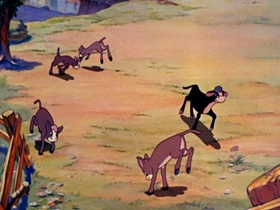 Screenshots from the 1938 Disney cartoon Ferdinand the Bull