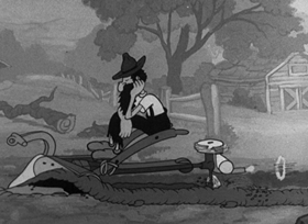 Screenshots from the 1938 Fleischer Studio cartoon Be Up To Date