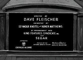 Screenshots from the 1938 Fleischer Studio cartoon The House Builder Upper