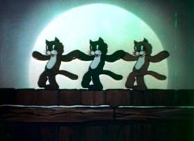 Screenshots from the 1938 Fleischer Studio cartoon Hold It!