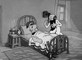 Screenshots from the 1938 Fleischer Studio cartoon I Yam Love Sick