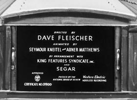 Screenshots from the 1938 Fleischer Studio cartoon Goonland