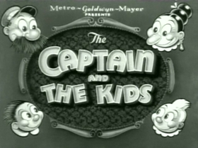 Screenshots from the 1938 MGM cartoon Cleaning House