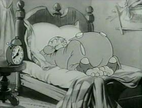 Screenshots from the 1938 MGM cartoon Blue Monday