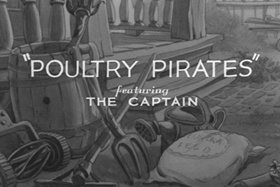 Screenshots from the 1938 MGM cartoon Poultry Pirates