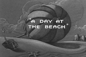 Screenshots from the 1938 MGM cartoon A Day at the Beach