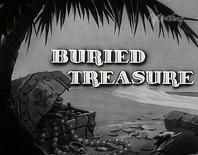 Screenshots from the 1938 MGM cartoon Buried Treasure