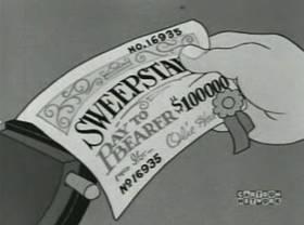 Screenshots from the 1938 MGM cartoon The Winning Ticket