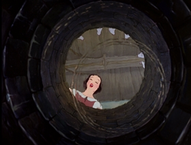 Screenshots from the 1938 Disney cartoon Snow White and the Seven Dwarfs