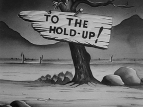 Screenshots from the 1939 Warner Bros. cartoon The Lone Stranger and Porky