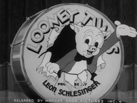 Screenshots from the 1939 Warner Brothers cartoon The Lone Stranger and Porky