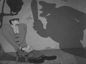 Screenshots from the 1939 Warner Brothers cartoon Porky