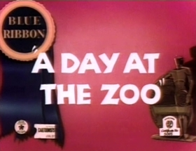 Screenshots from the 1939 Warner Bros. cartoon A Day At The Zoo