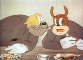 Screenshots from the 1939 Warner Brothers cartoon Bars and Stripes Forever