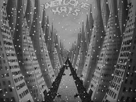 Screenshots from the 1939 Warner Brothers cartoon Kristopher Kolumbus, Jr.