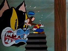 Screenshots from the 1939 Warner Brothers cartoon Naughty But Mice
