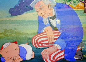 Screenshots from the 1939 Warner Bros. cartoon Old Glory