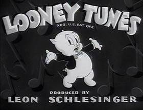 Screenshots from the 1939 Warner Brothers cartoon Porky