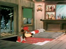 Screenshots from the 1939 Warner Brothers cartoon Dangerous Dan McFoo