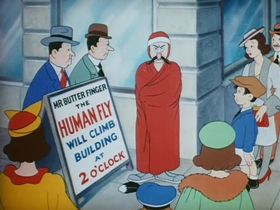 Screenshots from the 1939 Warner Brothers cartoon Detouring America