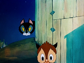 Screenshots from the 1939 Warner Brothers cartoon Little Brother Rat