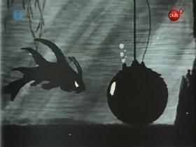 Screenshots from the 1939 Warner Brothers cartoon Fresh Fish