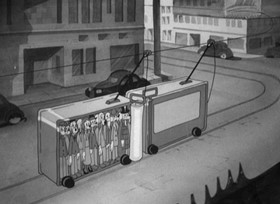 Screenshots from the 1939 Warner Brothers cartoon The Film Fan