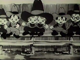 Screenshots from the 1939 Columbia cartoon Scrappy