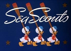 Screenshots from the 1939 Disney cartoon Sea Scouts