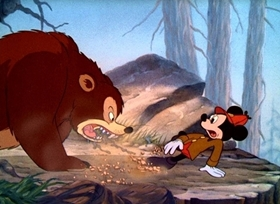 Screenshots from the 1939 Disney cartoon The Pointer