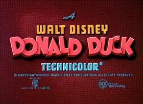 Screenshots from the 1939 Disney cartoon Donald