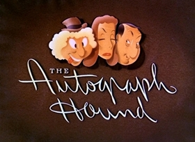 Screenshots from the 1939 Disney cartoon The Autograph Hound