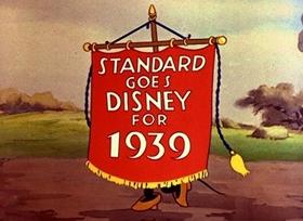 Screenshots from the 1939 Disney cartoon The Standard Parade