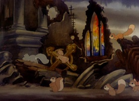 Screenshots from the 1939 MGM cartoon Peace on Earth