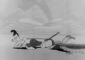 Screenshots from the 1939 Fleischer Studio cartoon Musical Mountaineers