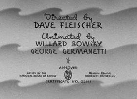 Screenshots from the 1939 Fleischer Studio cartoon Wotta Nitemare