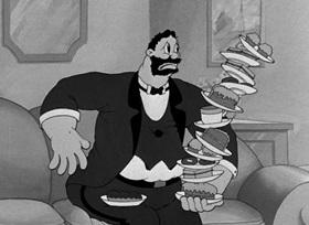 Screenshots from the 1939 Fleischer Studio cartoon It