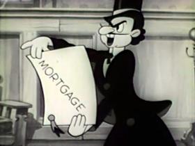 Screenshots from the 1939 Walter Lantz cartoon The One-Armed Bandit