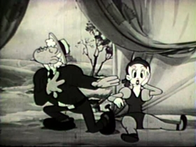 Screenshots from the 1939 Walter Lantz cartoon Nellie of the Circus