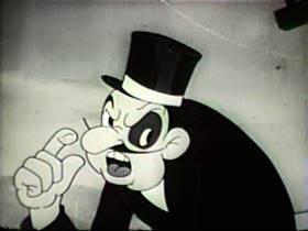 Screenshots from the 1939 Walter Lantz cartoon The Bird in Nellie