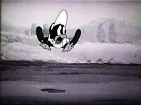 Screenshots from the 1939 Walter Lantz cartoon The Stubborn Mule