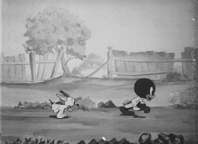 Screenshots from the 1939 Walter Lantz cartoon Silly Superstition