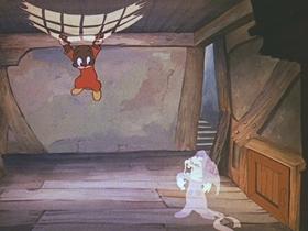 Screenshots from the 1939 Walter Lantz cartoon A-Haunting We Will Go