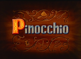 Screenshots from the 1940 Disney cartoon Pinocchio