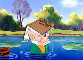 Screenshots from the 1940 Warner Brothers cartoon Elmer