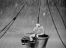 Screenshots from the 1940 Warner Brothers cartoon Pilgrim Porky