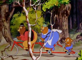 Screenshots from the 1940 Warner Brothers cartoon The Bear